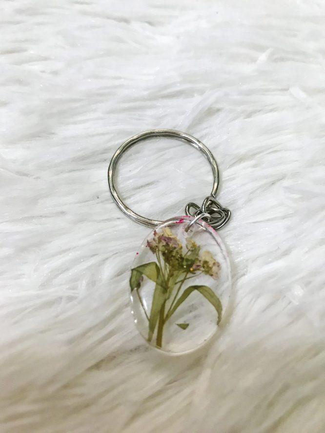 Resin Flower Keyring