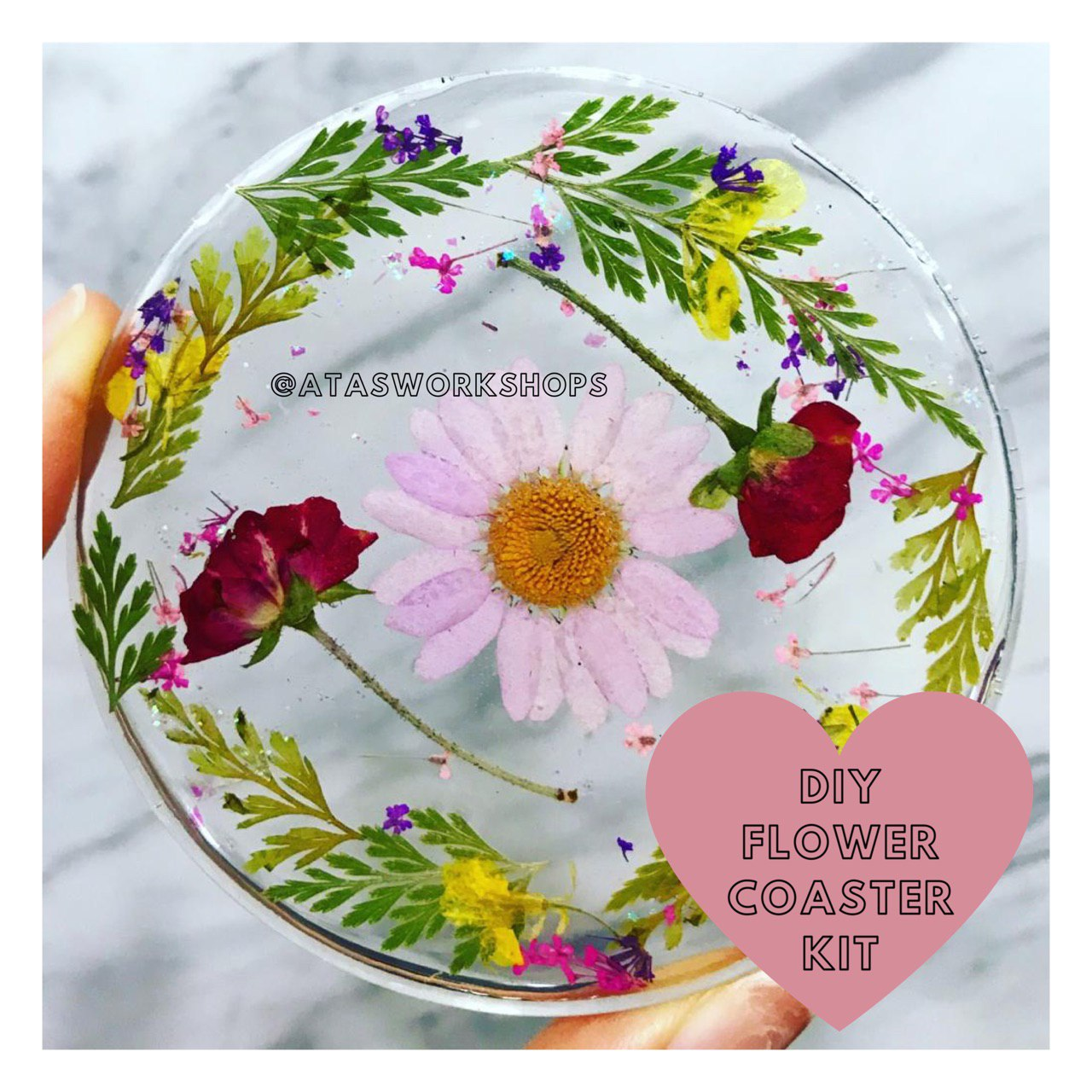DIY Flower Coaster Kit